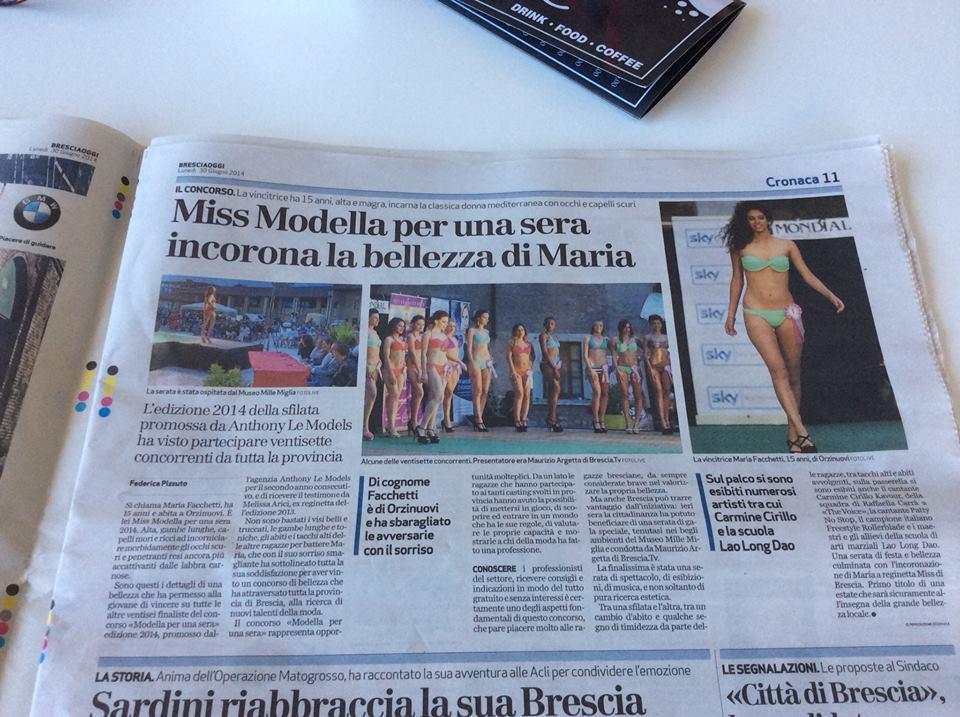 Articolo del Giornale: Brescia Oggi