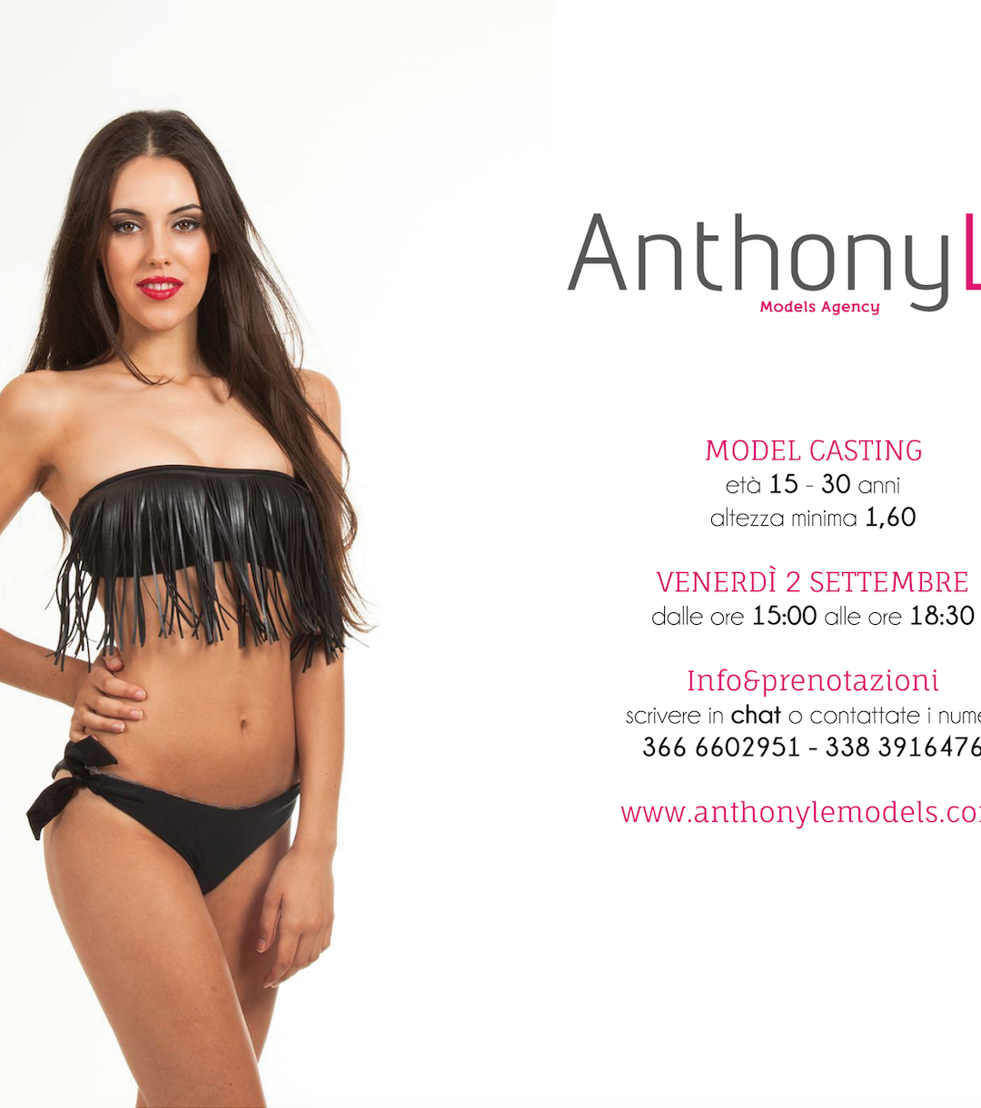 Model casting 2 settembre 2016